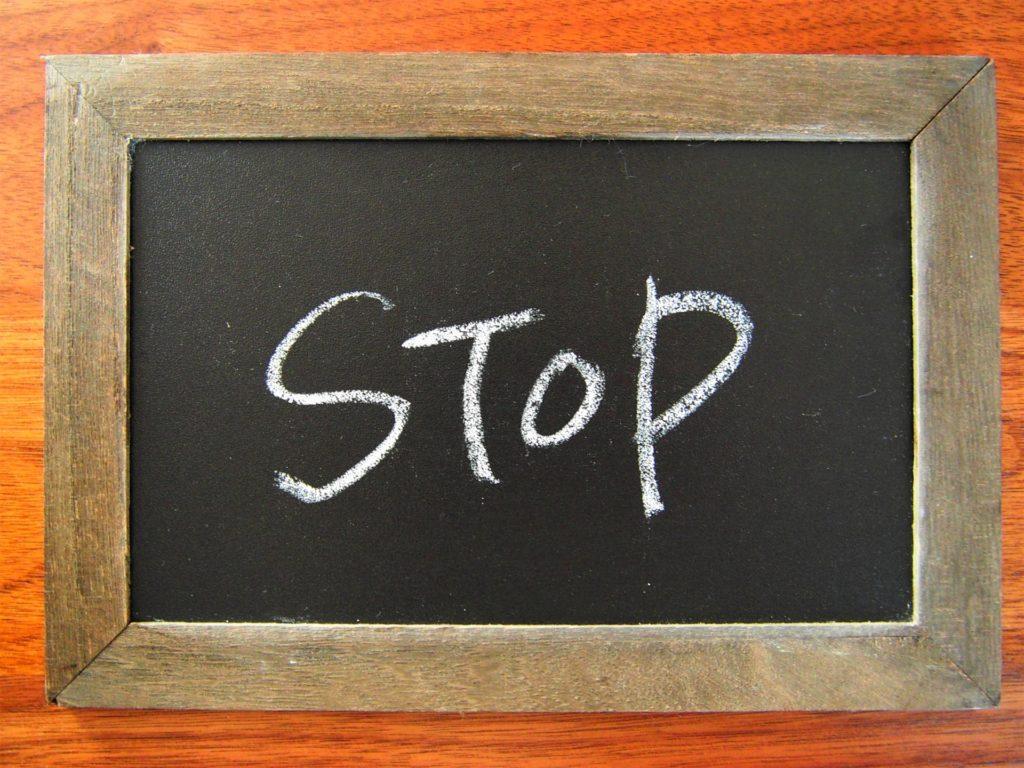 STOPの文字